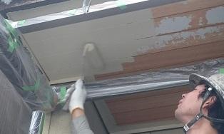 軒天塗装1
